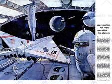 SCIENCE FICTION SPACE AEROPLANE STATION ASTRONAUT USA ART PRINT POSTER BB7317B