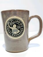 Equal Exchange CO OP since 1986 COFFEE MUG TANKARD DENEEN POTTERY 2017 USA