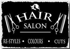HAIR SALON METAL SIGN,RE-STYLES,COLOURS,CUTS, SIGNAGE, HAIR CUTS, SHOP,SCISSORS