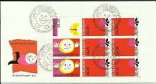 NEDERLAND 1971 - FDC E 114A - ZELDZAAM - BLOK KINDERZEGELS - BLANCO OPEN KLEP