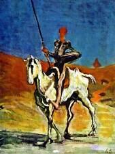 PAINTING PORTRAIT FIGURE HORSE DAUMIER DON QUIXOTE POSTER ART PRINT BB12916B