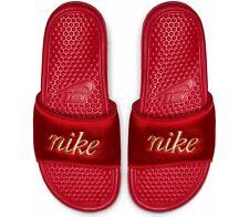 Nike Wmns Benassi JDI TXT SE Red AV0718-600 Womens Silde Flip Flops Slipper 9US