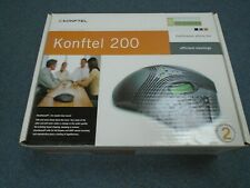 NEW - Konftel 200 AUX 840101060 Analog Single Line Conference Telephone Complete