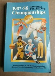 Vintage 1987-88 National Collegiate Championships NCAA History & Record Book