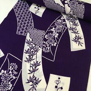 Royal Purple #B Cotton Bolt By the Yard Japanese Yukata Kimono Fabric BC42