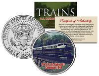 B&O RAILROAD's COLUMBIAN 1949 * Famous Trains * JFK Half Dollar U.S. Coin