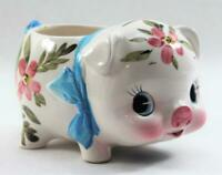 Vintage 1965 Relpo Ceramic Piggy Bank Planter Original Foil Label