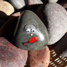 """One of The Kind Hand Painted Emoji Rock Art & Quote """"To Listen Is Better Than.."""""""
