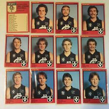 1982 CARLTON VFL / AFL Scanlens Cards...Team Set - 3 w/ UNMARKED CHECK LIST