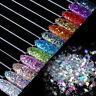 Nail Flakes Glitter Sequins Paillette Rhombus 3D Decoration Nails Tips Manicure