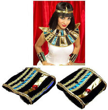 Egyptian Cleopatra Wristbands Cuffs Nefertiti Queen of the Nile Accessory
