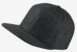 Hurley Men's Dri-FIT Icon 4.0 Snapback Hat Cap - Black