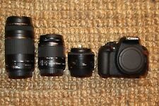 MINT Canon EOS T5 SLR Camera with 18-55mm and 50mm IS II Lens. (5 LENSES)