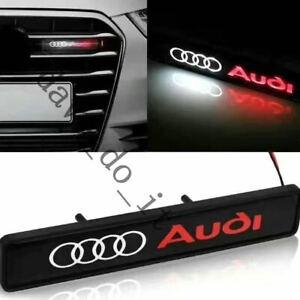 Audi Front Grill Decal Badge Emblem Logo LED Light A3 A4 A5 A6 Q2 Q3 Q7