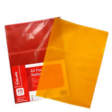 A4+ Plastic Pocket Wallets (15 Pack) or Document Files (7 Pack) - Mixed Colours