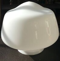 "Vintage School House White Milk Glass Light Shade Globe  Appr 8.5"" Dia 4"" Fitter"