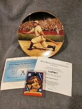 """Honus Wagner: The Flying Dutchman"""" 93' Delphi 8"""" Collector Plate"""