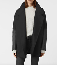 ALL SAINTS WOOL BLACK COAT US SIZE4 UK8 NWT $505 VALUE