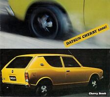 Datsun Nissan Cherry 1000 Break 1971-72 French Market Foldout Sales Brochure