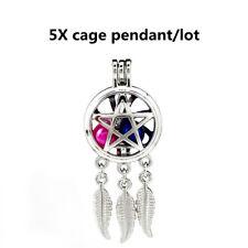 5X-K960 multi étoile perle cage argent couleur charme Aroma Diffuseur Médaillon