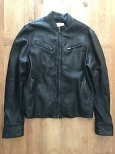 Levi Men's Classic Black Sheep Leather Moto Style Jacket #039