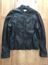 Levi Men's Classic Black Sheep Leather Moto Style Jacket #039