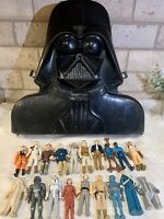 Vintage 1980 Star Wars Collectors Darth Vader Case Kenner + 19 Action Figures