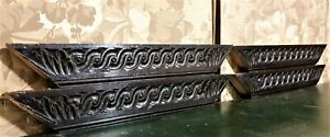 4 Entrelas acanthus leaf carving pediment Antique french architectural salvage