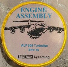 """Textron Lycoming Engine Asembly ALF 502 Turbofan BAe146 Patch (Rare) 3.5"""""""
