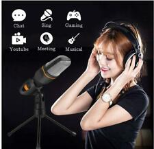 3.5mm Microphone Mic Condenser Recording Studio Tripod Stand For PC Phone