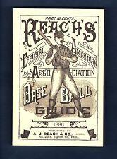 1886 REACH'S American Association BASEBALL GUIDE (@1989 Horton) 170+pg. REPRINT!