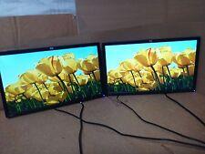 """Menge 2 HP ZR22W 21.5"""" LCD Flachbildschirme-ohne Ständer-Ersatzteile/Reparatur"""