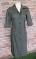 Cop Copine French Designer Khaki Shirt Dress ~ Size 36 / AU 8