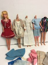 Vintage 1960s Barbie cone Doll with  extra Barbie Clothing lot # 3