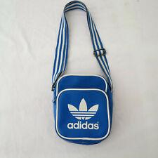 ADIDAS Small blue Shoulder Cross Body Man Bag Trefoil retro styling vintage