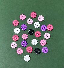 Micro Pulsanti di fiori - 10mm dress It Up Sweet and Sassy Rosa Viola-Girls