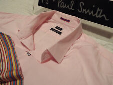 "PAUL SMITH Mens Shirt 🌍 Size 18"" (CHEST 46"") 🌎 RRP £95+📮 PLAIN ICONIC CUFFS"