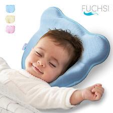 FUCHSI Babykissen Gegen Plattkopf | 2x Baumwolle Bezüge | Anti-Erstickungslöcher