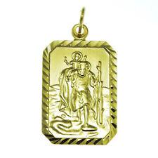 9CT GOLD ST SAINT CHRISTOPHER PENDANT - 3.3g