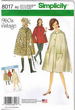 Vintage 60s Retro Cape Pockets Scarf Simplicity Sewing Pattern Sz 6 8 10 12 14