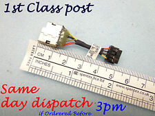 Nueva Hp Pavilion 15 Serie 15-n090sa Dc Jack Socket Puerto De Carga Conector Cable
