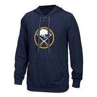 Buffalo Sabres Reebok Center Ice TNT Speedwick Navy Pullover Hoodie Men's