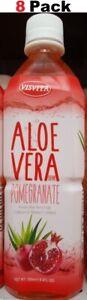 Aloe Vera Drink Pomegranate 16.9 Fl Oz ( 8 Pack ) Bebida de Savila Vitamin C