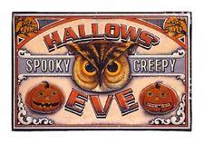"HALLOWS EVE Halloween Metal Wall Hanging 18""x12"" Lori Seibert Raz Imports"