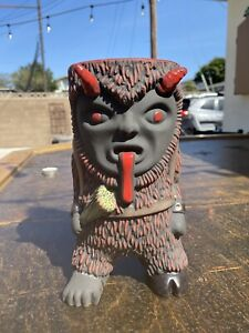 Munktiki Krampus Tiki mug repaired foot 1/25