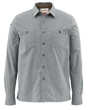 SIMMS BLACK'S FORD FLANNEL SHIRT - Charcoal -Sale &  Free US Shipping