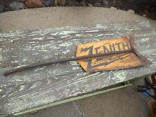 Vintage Antique ZENITH WINCHARGER TAIL FIN ADVERTISING SIGN  WINDMILL SIOUX CITY