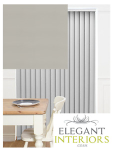 Unilux Grey PVC Blackout - Made To Measure Complete Vertical Blind