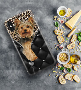 Yorkshire terrier zipper phone case yorkie puppy love gift case cover for iphone
