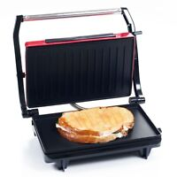 Chef Buddy Non-Stick Grill and Panini Press - Red Brand New Brown Box